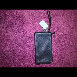 Authentic Coach Zip-Around Wallet - Navy Blue